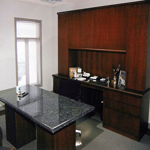 Office desk and cabinetry